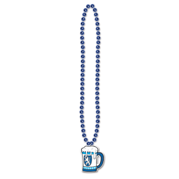 Picture of OCTOBERFEST BEADS W/BEER STEIN MEDALLION