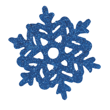 Picture of DECOR - ASSORTED MINI GLITTER SNOWFLAKES