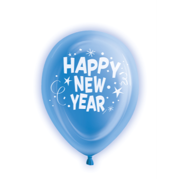 Picture of BALLOONS - HAPPY NEW YEAR LIGHT UP BALLOONS - 5 COUNT