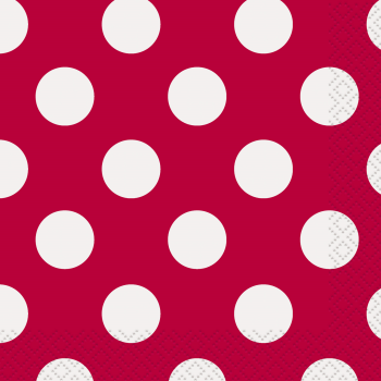 Picture of RED DOTS BEVERAGE NAPKIN