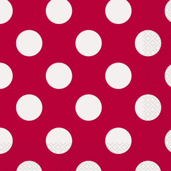 Picture of RED DOTS LUNCHEON NAPKIN