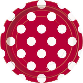 """Picture of RED DOTS 7"""" PLATES"""
