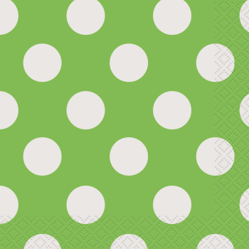 Picture of LIME GREEN DOTS BEVERAGE NAPKIN