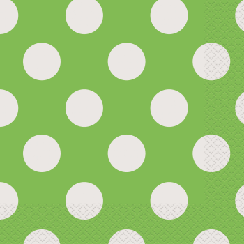 Picture of LIME GREEN DOTS LUNCHEON NAPKIN