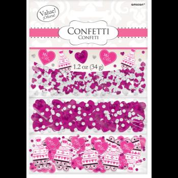 Picture of HEART & CAKE VALUE CONFETTI - BRIGHT PINK