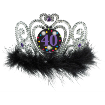 Picture of 40th BIRTHDAY FLASHING TIARA
