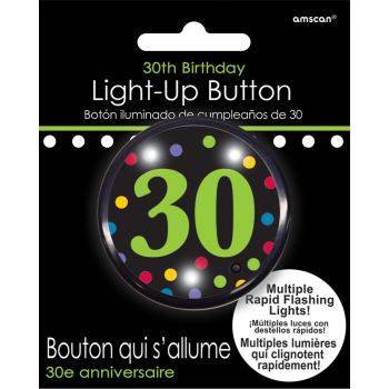 Picture of 30th BIRTHDAY FLASHING BUTTON