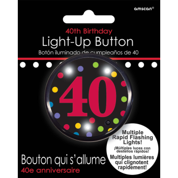 Picture of 40th BIRTHDAY FLASHING BUTTON