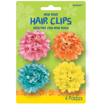 Picture of MINI ROSE HAIR CLIPS - 4/PK ASST COLORS