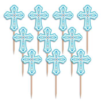 Image de DECOR - CROSS PARTY PICKS - BLUE