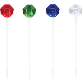 Image de ASST COLOR PLASTIC PICKS 24/PK