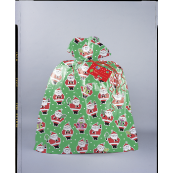 Image de DECOR -  GIFT BAG - SANTA GIANT GIFT PLASTIC BAG
