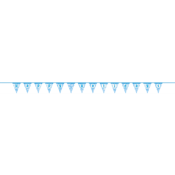Image de DECOR - HAPPY HOLIDAYS SNOWFLAKE FLAG BANNER - 14FT