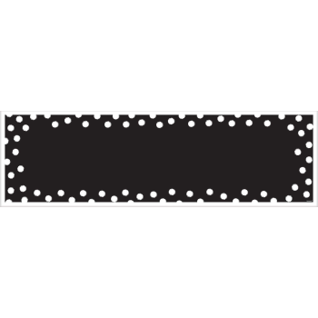 Picture of DECOR - GIANT CUSTOMIZABLE GIANT SIGN BANNER - BLACK AND WHITE