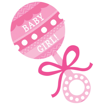 Image de DECOR - BABY GIRL RATTLE CUTOUT