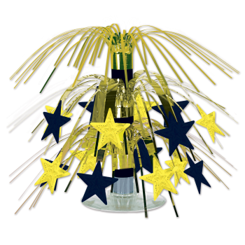 Picture of BLACK AND GOLD STAR MINI CASCADE CENTER PIECE