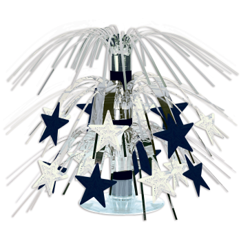 Picture of BLACK AND SILVER STAR MINI CASCADE CENTER PIECE