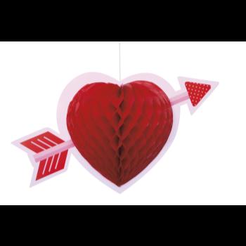 Image de DECOR - HEART HONEYCOMB HANGING DECORATION