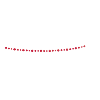 Picture of DECOR - RED DOTS PAPER GARLAND - 9'