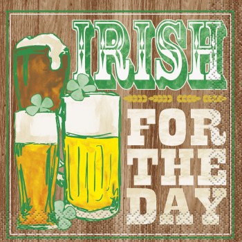 Picture of TABLEWARE - IRISH FOR THE DAY BEVERAGE NAPKINS