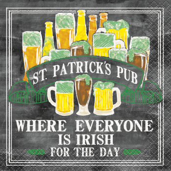 Picture of TABLEWARE - ST-PATRICK'S PUB BEVERAGE NAPKINS
