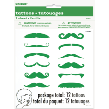 Picture of WEARABLES - GREEN MUSTACHE FINGER TATTOO