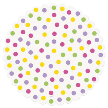 Picture of DECOR - EASTER DOTS DOILIES