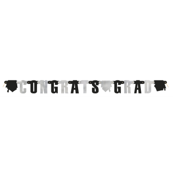Picture of DECOR - GRAD JOINTED BANNER - BLACK/WHITE
