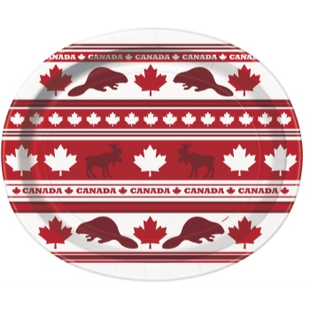 Image de CANADA DAY LEAF VALUE OVAL PLATES