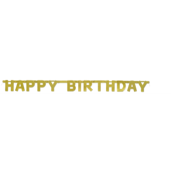 Picture of DECOR - HAPPY BIRTHDAY GOLD LETTER BANNER