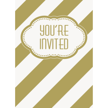 Picture of TABLEWARE - GOLDEN BIRTHDAY INVITATIONS