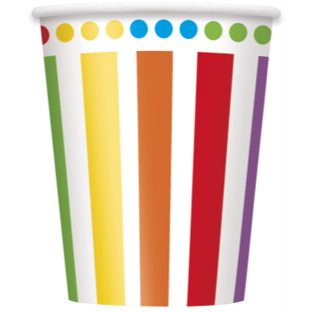 Picture of TABLEWARE - RAINBOW BIRTHDAY -  9oz CUPS