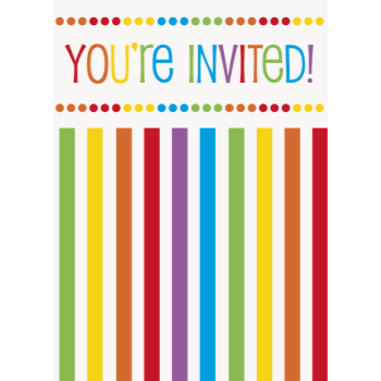 Picture of TABLEWARE - RAINBOW BIRTHDAY INVITATIONS