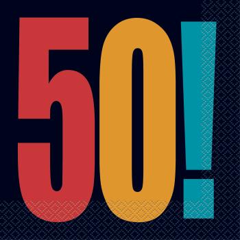 Image de 50th - BIRTHDAY CHEER - LUNCHEON NAPKIN