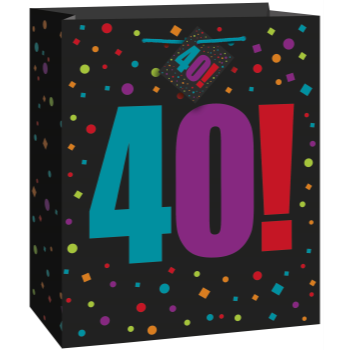 Picture of 40th BIRTHDAY GIFT BAG - LARGE