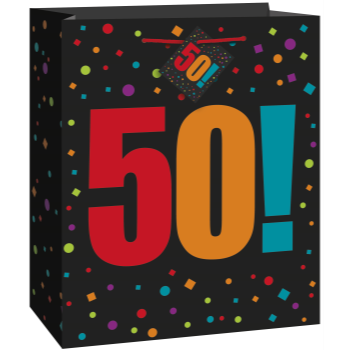Picture of 50th - BIRTHDAY GIFT BAG - LARGE