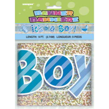 Image de IT'S A BOY 9' FOIL BANNER