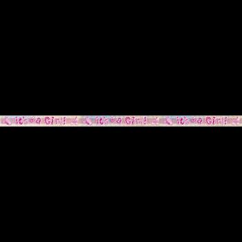 Image de IT'S A GIRL 9' FOIL BANNER