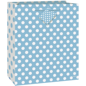 Picture of POWDER BLUE DOTS LG GIFT BAG