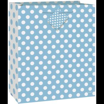 Image de POWDER BLUE DOTS LG GIFT BAG