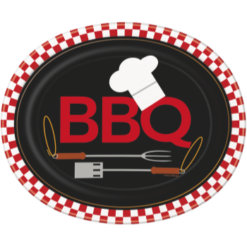 Picture of BACKYARD BBQ OVAL PLATES - 8CT