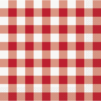 Picture of RED AND WHITE CHECK DN