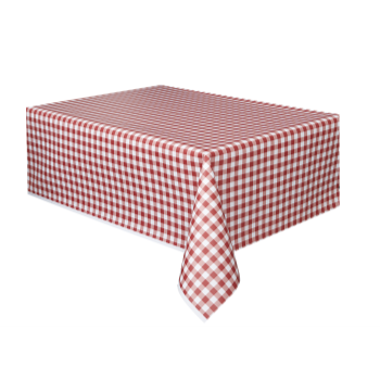 Picture of RED GINGHAM TABLE COVER