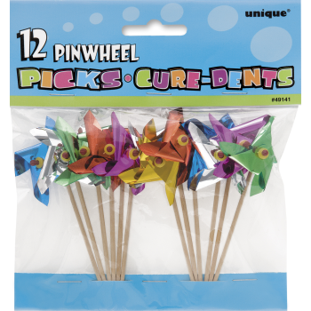 "Image de 4"" PINWHEEL PICKS- 12CT"