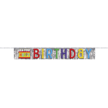 Picture of DECOR - HAPPY BIRTHDAY FOIL FRINGE BANNER