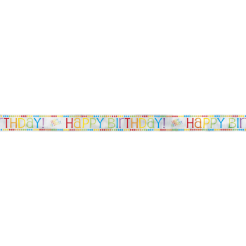 Picture of DECOR - RAINBOW BIRTHDAY FOIL BANNER - 12'