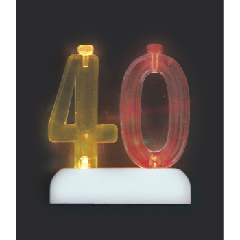Image de 40th NUMERAL FLASHING CANDLE