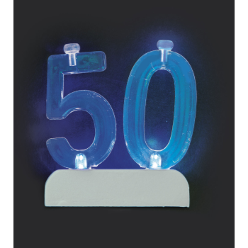Image de 50th - NUMERAL FLASHING CANDLE