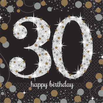 Picture of 30th - SPARKLING CELEBRATION BEVERAGE NAPKIN