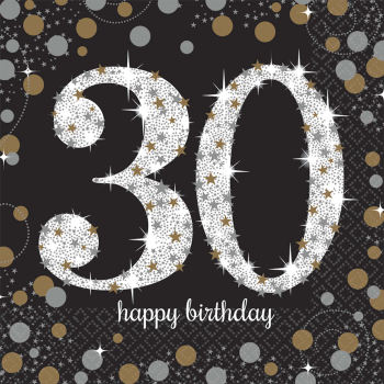 Picture of 30th - SPARKLING CELEBRATION - LUNCHEON NAPKIN